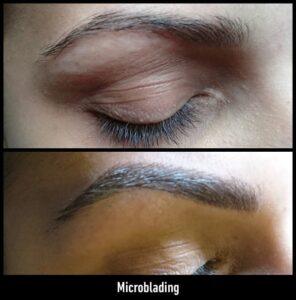 microblading antes y después en Peluquería Equipo's