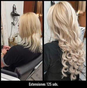 trabajos extensiones de pelo antes y después