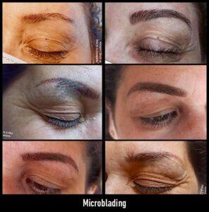 trabajos microblading antes y después